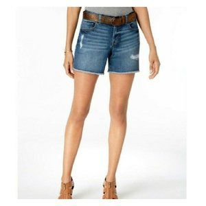 Style & Co. Women Plus Size Belted Distressed Jean